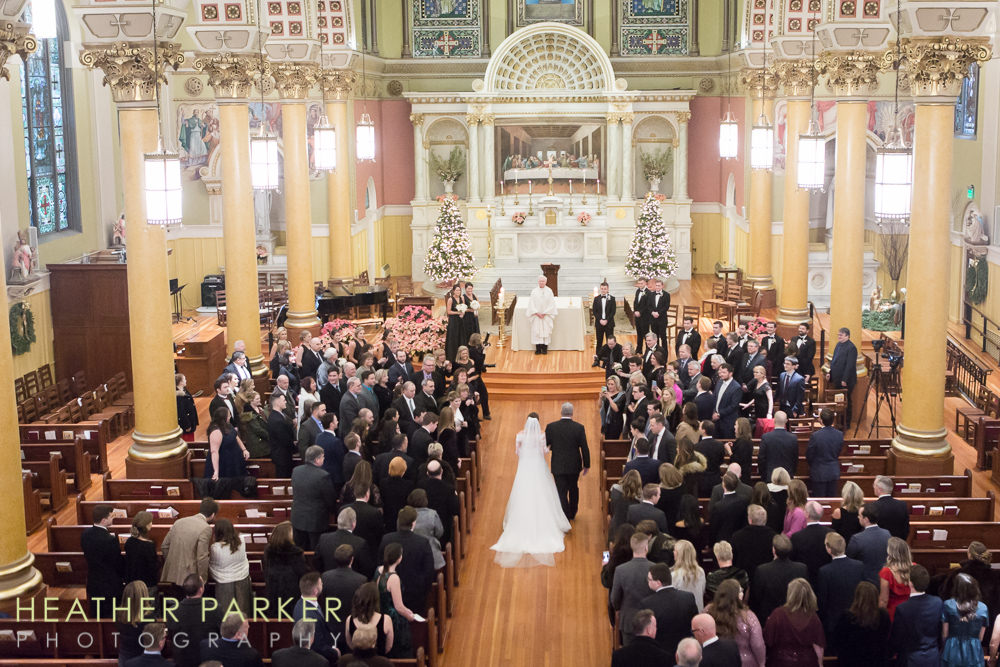 Fairmont Copley Boston Wedding Photos St Cecilias Church