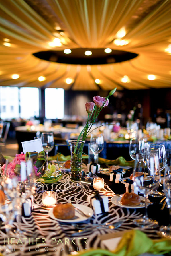 W Lakeshore Hotel chicago wedding reception Altitude Ballroom