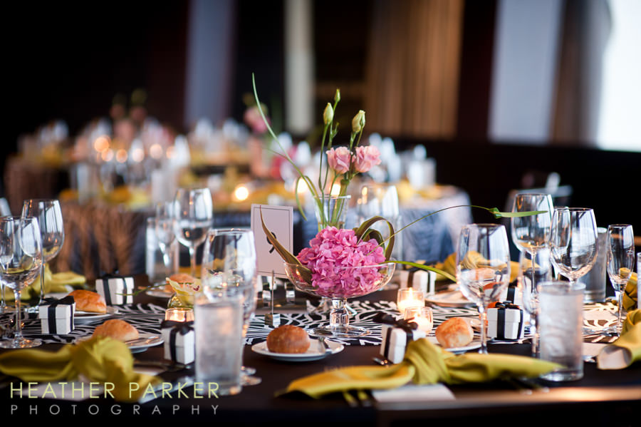 W Lakeshore Hotel chicago wedding reception with modern style