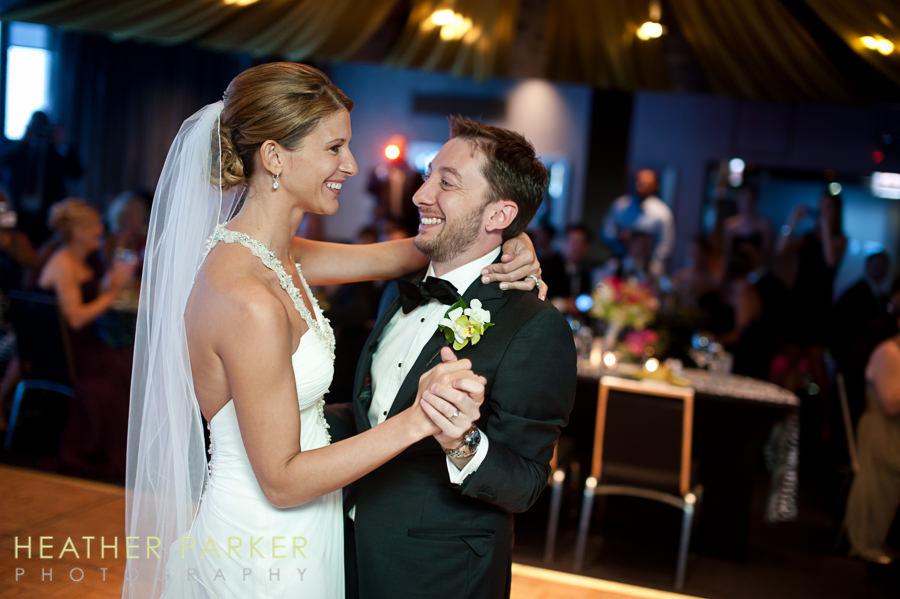 W Lakeshore Hotel chicago wedding reception first dance