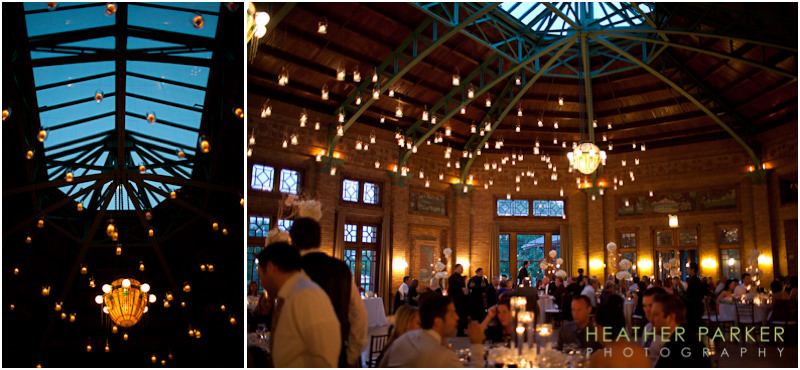 Cafe Brauer reception style with candles