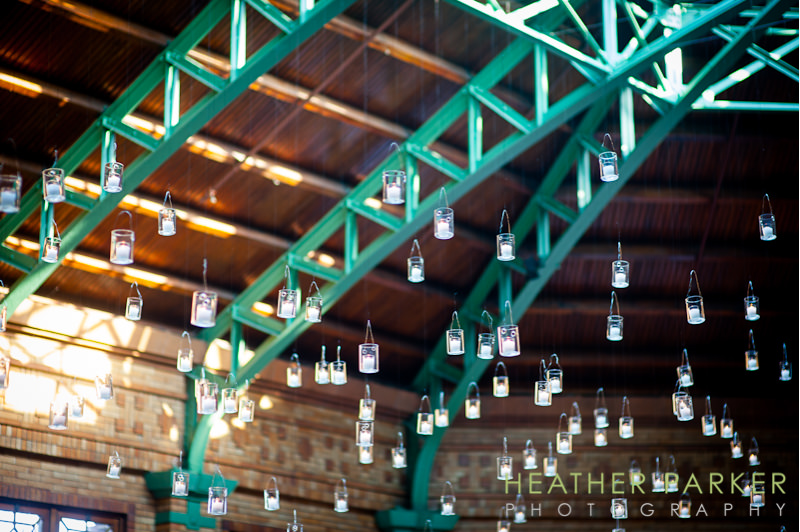 Cafe Brauer candles ceiling decor