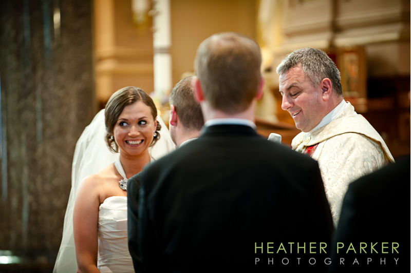 St Hedwig Chicago catholic wedding ceremony