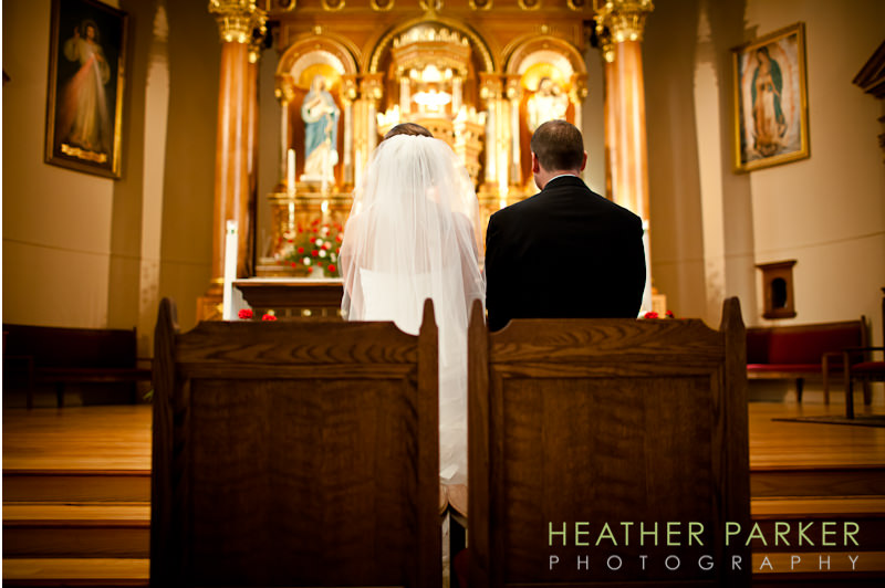 Saint Hedwig church wedding ceremony