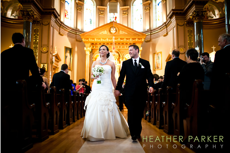 wedding at Saint Hedwig church ceremony