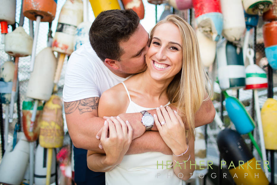 boston harbor nautical engagement photo shoot