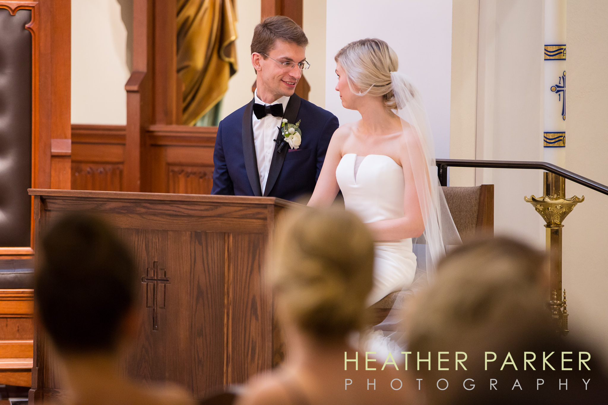 Boston wedding ceremony at Our Lady of Good Voyage