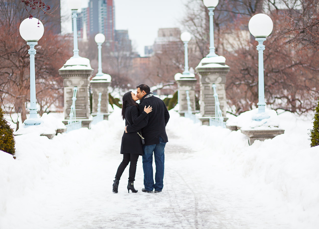 blizzard engagement photos