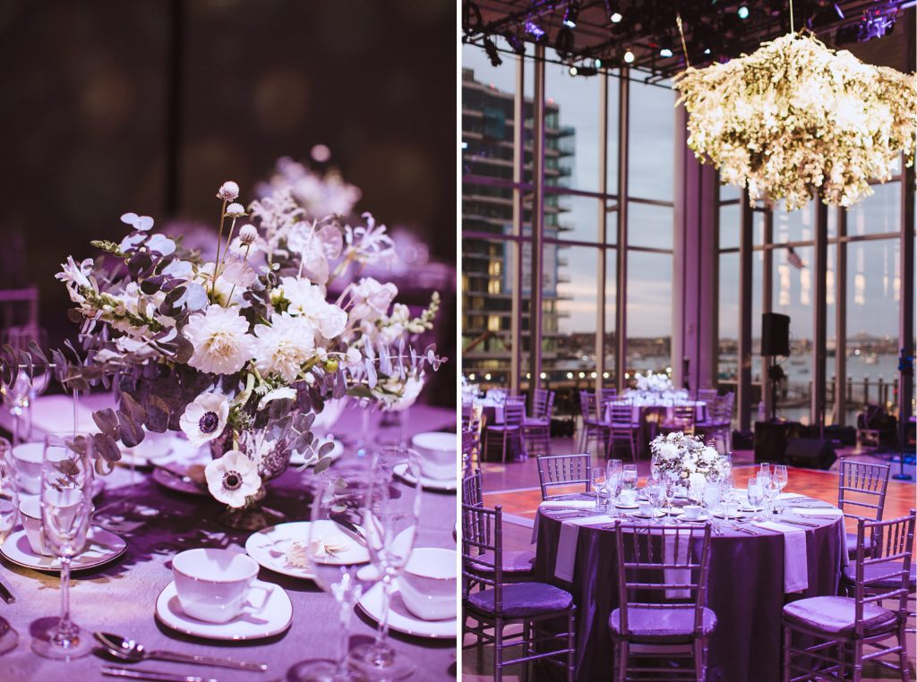 modern wedding at the ICA in Boston with photos