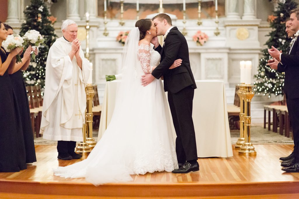 St. Cecilia Parish Boston wedding ceremony photos by photographer Heather Parker