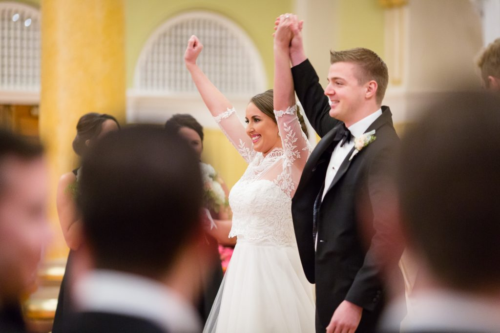 St. Cecilia Parish Boston wedding ceremony photos
