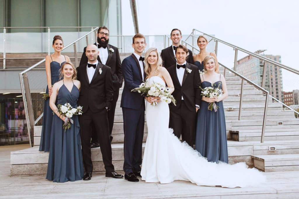Wedding party photos CA Boston by one of the best ranked photographers