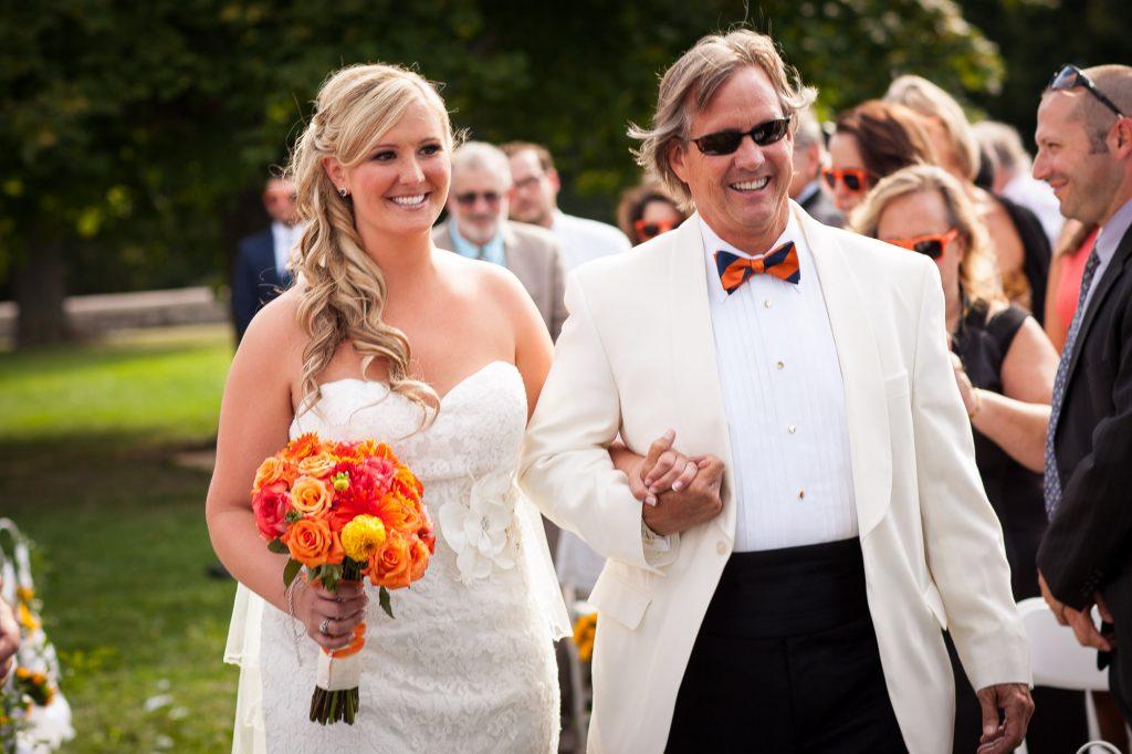 boston wedding ceremony outdoors
