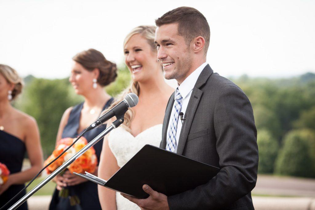 boston wedding ceremony outdoor summer